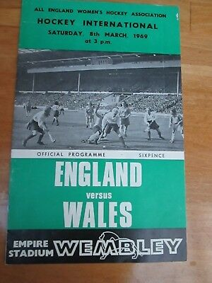 England v Wales  - Friendly Womens Hockey International at Wembley - 1969