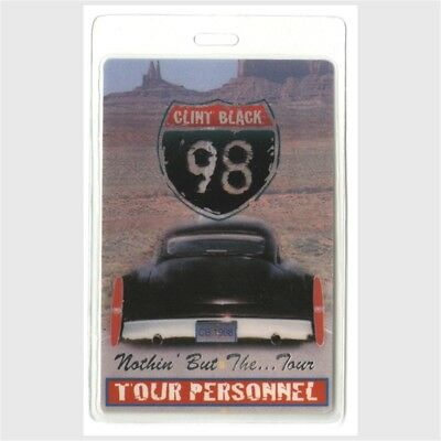Clint Black authentic 1998 Laminated Backstage Pass Nothin' But Tail Lights Tour
