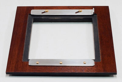 1 ADAPTER 6x6SC for Kodak2D 8x10 for use 110x110mm TOYO boards, made of Walnut