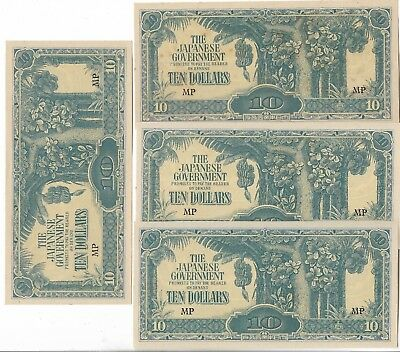 Rare Very Old Japanese WWII Japan War Ten Dollar Bank Bill Note WW2 Collection