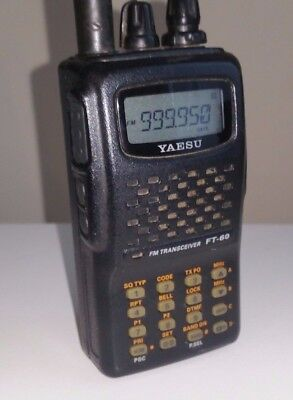 Yaesu FT-60 Multi Band VHF UHF Transceiver -  Receiver RX 108-520 / 700-999 MHz