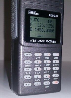 AOR AR-8000 Multi Mode Radio Scanner Receiver + Antenna - 500 kHz to 1900 MHz