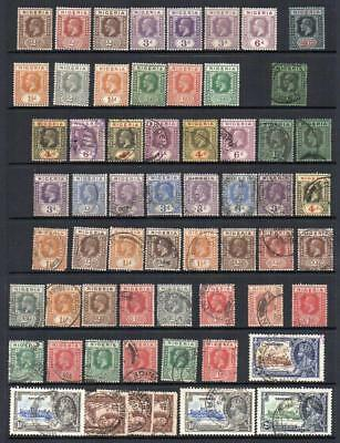 NIGERIA 60 Stamps 1921-36 Mint and F.Used Inc; 1d. Orange Red  No hidden faults*