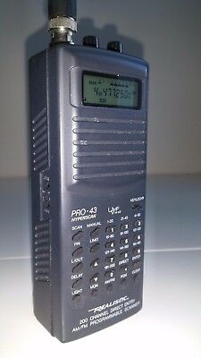 Realistic Pro 43 Wide Band Scanner 66-88MHz, 118-174MHz, 220-512MHz, 806MHz-1GHz