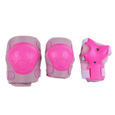 Skating Gear Knee Elbow Pads Wrist Support Set Pink for Children H1A7 R1T2