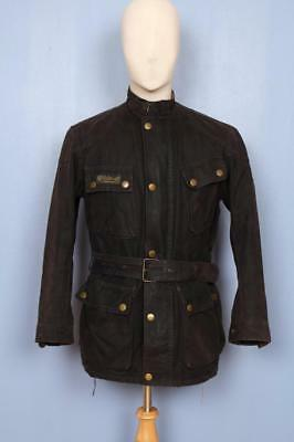 Mens BELSTAFF Trialmaster 1948 Belted Motorcycle WAXED Jacket Small