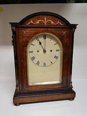 Fine Rosewood Double Fusee London Bracket Clock Fletcher Lambeth St London