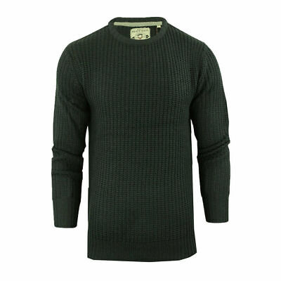 Men's Chunky Crew Neck Jumpers Light Knitted By Brave Soul