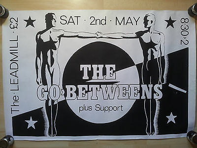 The Go Betweens 1987 Sheffield Leadmill Poster - Martin F Bedford - Very Good