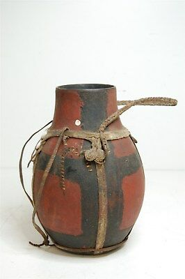 Authentic African Water Vessel Container Pitcher Jug Painted
