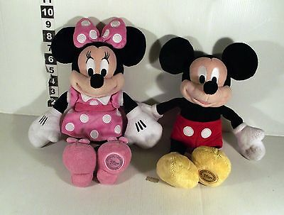 "14"" DISNEY STORE MICKEY & MINNIE MOUSE -- 2 x SOFT TOY"