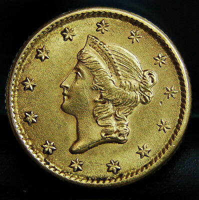 EXCELLENT 1853 Gold $1 Liberty Head 90% Type 1 Coin