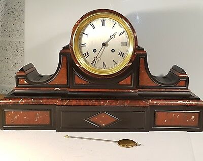 Victorian French Drumhead Mantle Clock One Month Duration, Superb Quality