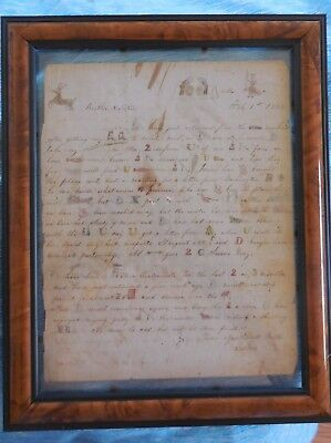 1848 Rebus Letter Coopersville Indiana