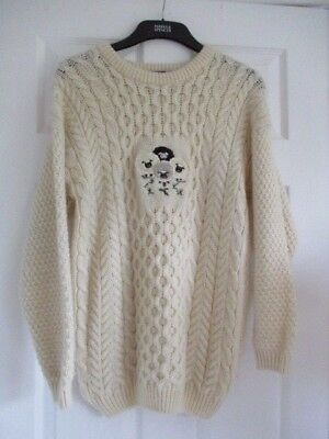 Vintage Highland Home Industries Aran Cable Knit Jumper Small