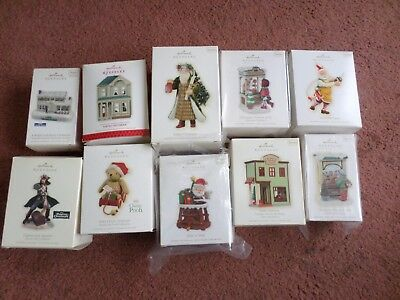 10 Hallmark Ornaments Assorted Lot