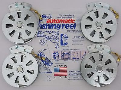 4 Pack Mechanical Fisher's Yo Yo Fishing Reels (Flat Trigger Model)