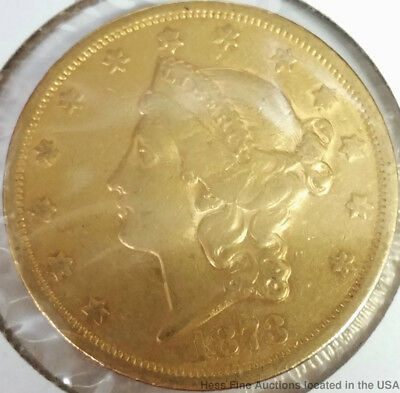 1873 S Gold Double Eagle Liberty Head Very to Extra Fine US American Coin