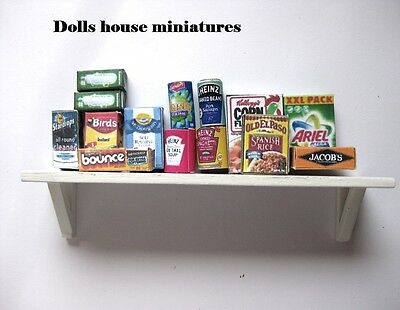 Shelf And  Grocerys  Dollshouse Miniature