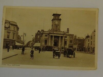 WORTHING - Town Hall - Surrey - 1922 used postcard