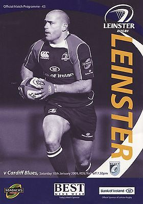 Leinster Rugby v Cardiff Blues - Magners League Programme 2009