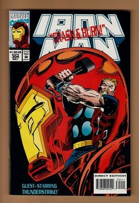 *NM/MT 9.8*- IRON MAN #304 -1st App Of Hulkbuster Armor - Trading Cards Intact-