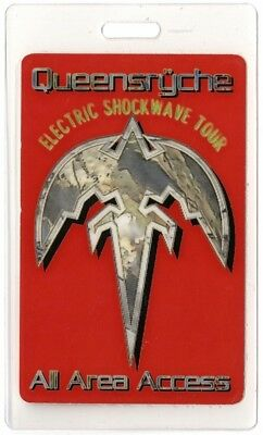 Queensryche authentic 1999 Laminated Backstage Pass Electric Shockwave Tour AA