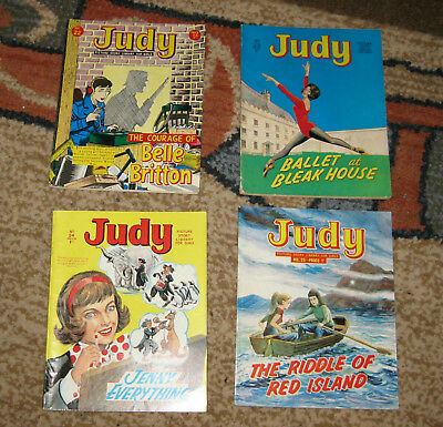 Judy Picture Library 5 Issues Nos 22-25 all 1965 (Like Mandy and Bunty)