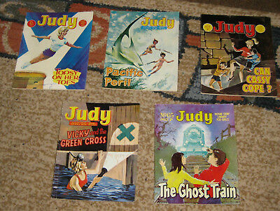 Judy Picture Library 5 Issues Nos 61-65 from 1968 (Like Mandy and Bunty)