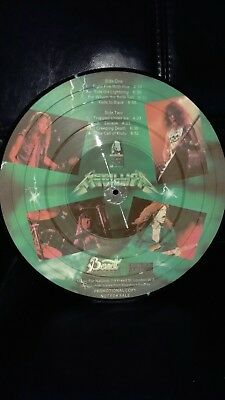 Metallica green Ride the Lightening promo copy picture disc