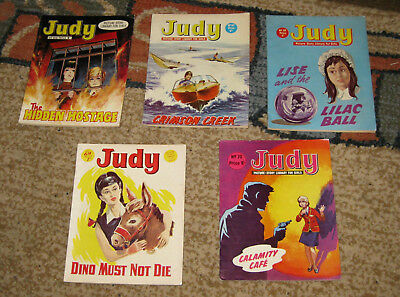 Judy Picture Library 5 Issues Nos 66-70 from 1968 and 1969 (Like Mandy and Bunty