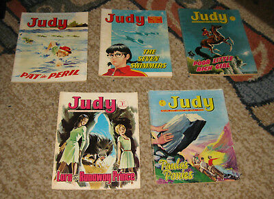 Judy Picture Library 5 Issues Nos 86-90 from 1970 (Like Mandy and Bunty)