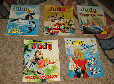 Judy Picture Library 5 Issues Nos 91-95 from 1970 and 1971 (Like Mandy and Bunty