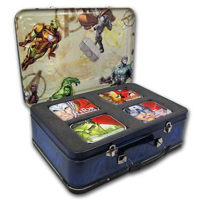 Niue 2014 $2 Marvel Comics The Avengers 4x 1 Oz Silver Proof Coin Set great Box