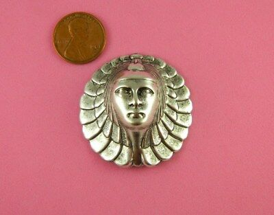 Vintage Design Antiqu Silver Plated Brass Egyptian Queen - 1 Pc