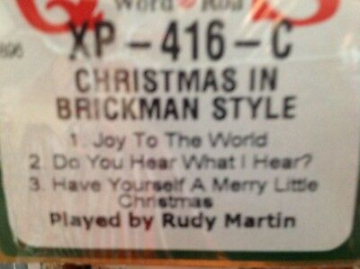 Christmas Brickman Style 3 Selections New Long Play Pianola Roll