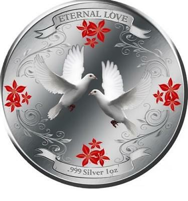 Niue Islands 2011 $2 Eternal Love 1oz LIMITED Silver Coin