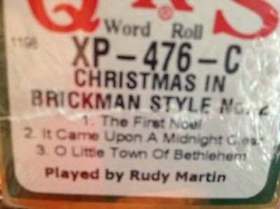CHRISTMAS BRICKMAN STYLE No. 2  THREE  SELECTIONS NEW LONG PLAY PIANOLA ROLL