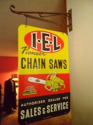 Pioneer Chain Saws 'Double Sided' Made in Canada S.T.W.S W/Bracket
