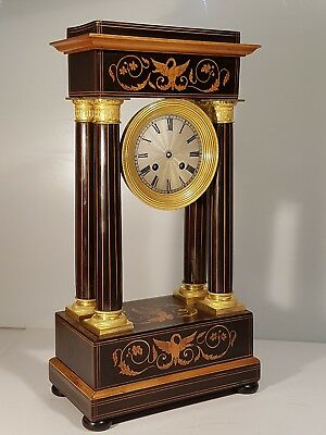 Late 19th Century Portico Mantel Clock For Spares Or Repairs
