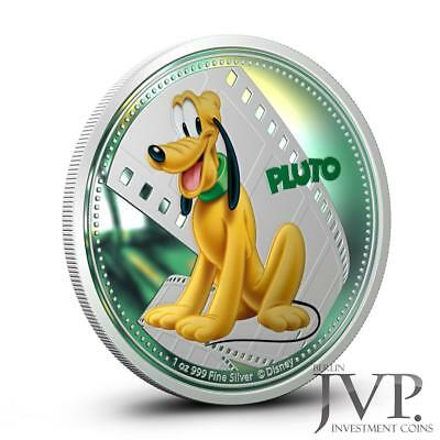 Niue 2014 $2 Disney Mickey & Friends 2014 Pluto 1 Oz Silver Proof Coin