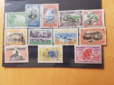 Liberia - Used Set of 12 Stamps From 1921 - SG 402 to 413 Inclusive