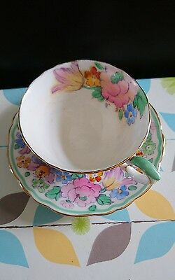 Crown Staffordshire teacup and saucer pattern 15227