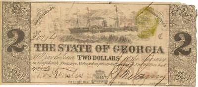 Atlanta GA Advertising Note O/P Confederate Currency ca 1870's