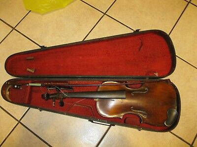 1800's HOPF Violin with Original Case,nice project
