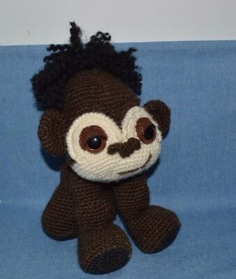 """Cute Hand Made Crocheted Gorilla Named """"yuna"""" He's Safe & Washable"""