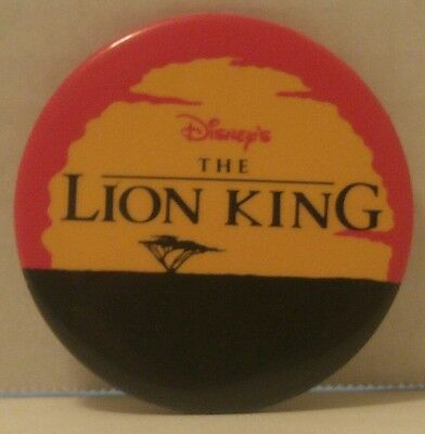 THE LION KING MOVIE Pin Back BUTTON Disney TRENDS