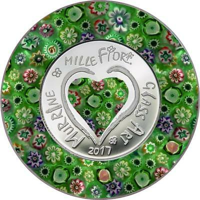 Cook Islands 2017 $5 Murrine Millefiori Glass Art 20g Silver Proof Coin