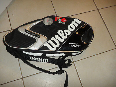 WILSON PRO TOUR K FACTOR TENNIS RACQUET CASE New w/ Tags Racquet Bag Six Pack