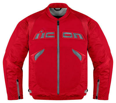 Icon Sanctuary Leather/Textile Jacket Red SM/Small